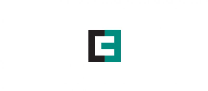 """The Cheetham Creative logo is a dark gray and turquoise square divided in half with a white letter """"c"""" in the middle."""